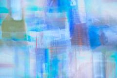 Moorings mosaic, Cley. Blue multiple exposure image of Cley moorings, Norfolk